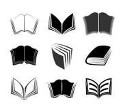 Sistema del vector de iconos gráficos de los libros Fotos de archivo libres de regalías