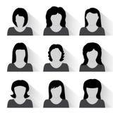 Sistema del vector de iconos planos de la gente Fotos de archivo libres de regalías