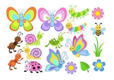 Sistema del vector de insectos lindos de la historieta libre illustration