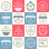 Sistema del vector de insignias, de logotipos y de la danza de rotura de la muestra libre illustration