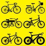 sistema del vector de la bici Imágenes de archivo libres de regalías