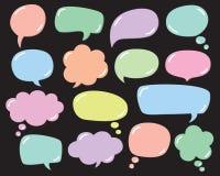 Sistema del vector de la burbuja de la conversación de la burbuja del pensamiento de la burbuja del discurso del globo libre illustration