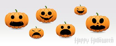 Sistema del vector de la calabaza de Halloween Fotografía de archivo