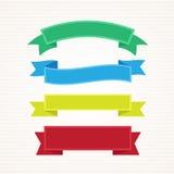 Sistema del vector de la cinta y de la bandera Imagen de archivo libre de regalías