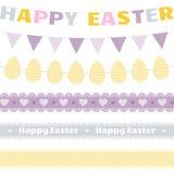 Sistema del vector de la decoración de Pascua Imagen de archivo
