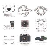 Sistema del vector de la etiqueta de la fotografía Fotografía de archivo libre de regalías
