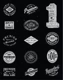 Sistema del vector de la etiqueta del vintage Fotografía de archivo libre de regalías