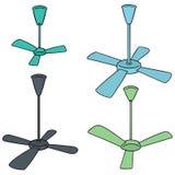 Sistema del vector de la fan de techo libre illustration