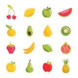 Sistema del vector de la fruta Imágenes de archivo libres de regalías