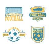 Sistema del vector de la insignia del fútbol Foto de archivo