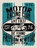 Sistema del vector de la motocicleta del vintage sistema del vector de la moto de los jinetes del cráneo Fotografía de archivo libre de regalías