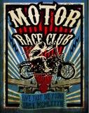 Sistema del vector de la motocicleta del vintage Vect de la moto del diseño gráfico de la camiseta Fotografía de archivo