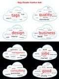 Sistema del vector de la nube de la etiqueta Fotografía de archivo