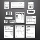 Sistema del vector de la plantilla del negocio Foto de archivo