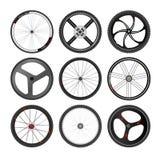 Sistema del vector de la rueda de bicicleta Imagen de archivo libre de regalías