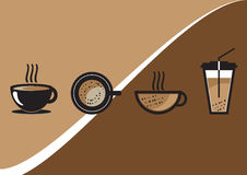 Sistema del vector de la taza de café Fotos de archivo