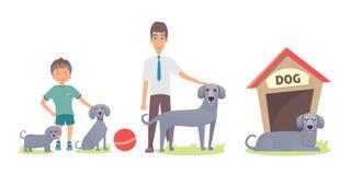 Sistema del vector de la vida del perro Fotos de archivo libres de regalías