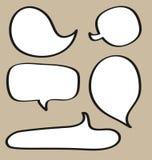 Sistema del vector de las burbujas del discurso Imagen de archivo libre de regalías