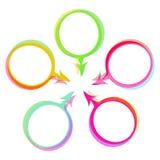 Sistema del vector de las burbujas del discurso del color Fotografía de archivo libre de regalías
