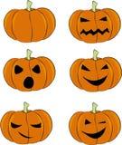 Sistema del vector de las calabazas de Halloween Imagen de archivo