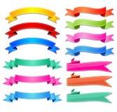 Sistema del vector de las cintas, etiquetas, banderas Imagenes de archivo