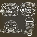 Sistema del vector de las etiquetas más oktoberfest, elementos del diseño Foto de archivo libre de regalías