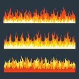 Sistema del vector de las llamas del fuego Imágenes de archivo libres de regalías