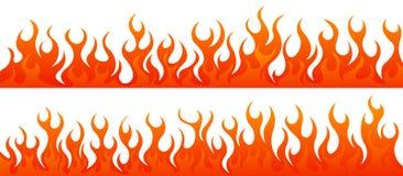 Sistema del vector de las llamas del fuego stock de ilustración