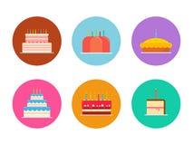Sistema del vector de las tortas y de las empanadas Fotos de archivo libres de regalías