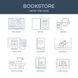 Sistema del vector de libros Imágenes de archivo libres de regalías