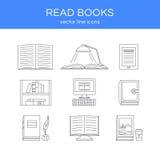 Sistema del vector de libros Fotografía de archivo libre de regalías