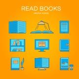Sistema del vector de libros Imagen de archivo libre de regalías