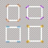 Sistema del vector de los bastidores de papel, fronteras blancas, plantilla en blanco stock de ilustración