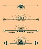 Sistema del vector de los elementos del diseño y de la decoración caligráficos de la página Fotos de archivo