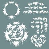 Sistema del vector de los elementos del diseño y de la decoración de la página Fotografía de archivo libre de regalías