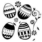 Sistema del vector de los huevos de Pascua Imágenes de archivo libres de regalías