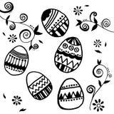 Sistema del vector de los huevos de Pascua Imagenes de archivo