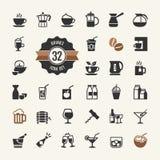 Sistema del vector de los iconos de la bebida libre illustration
