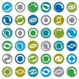 Sistema del vector de los iconos de la recarga, flechas del lazo Fotos de archivo libres de regalías