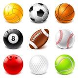 Sistema del vector de los iconos de las bolas del deporte libre illustration