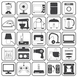 Sistema del vector de los iconos del aparato electrodoméstico Foto de archivo