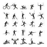 Sistema del vector de los iconos del deporte Fotografía de archivo