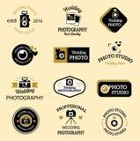 Sistema del vector de los iconos del fotógrafo stock de ilustración
