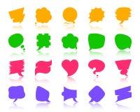 Sistema del vector de los iconos de la silueta del color de la burbuja del discurso ilustración del vector