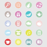 Sistema del vector de los iconos para la tienda o el mercado Imagen de archivo libre de regalías