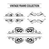Sistema del vector de los marcos de la invitación de la boda del vintage fotografía de archivo