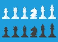 Sistema del vector de los pedazos de ajedrez Fotos de archivo