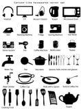 Sistema del vector de los utensilios de la casa Fotografía de archivo