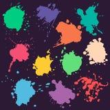 Sistema del vector de manchas coloridas Fotos de archivo