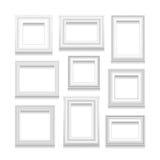 Sistema del vector de marcos Imagen de archivo libre de regalías